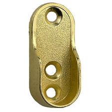 OVAL guardaroba Bastone appendiabiti fine staffe di supporto in ottone oro estremità 20mm x 45 mm au6