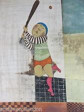 """Graciela Rodo Boulanger """"Baseball"""" Original Etching Artwork S/N"""
