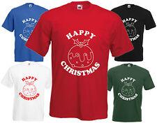 Feliz Navidad Pudding T Shirt gracioso presente Tee Regalo De Navidad Top Secret Santa