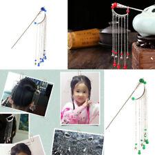 Dangle Chain Tassel Ancient Chinese Stick Pick Headdress Bridal Hair Pin