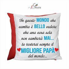 Cuscino Quadrato Rosso Festa del Papà premio miglior papà idea regalo