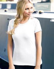 A880 Anvil by Gildan Women's Lightweight Short Slevee Tee t shirt White new