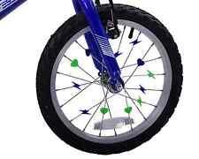 Green & Blue Colourful Bike Wheel Spoke Beads Kids Fun Spokey Dokeys Clip On