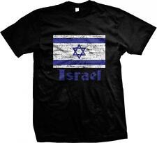 State of Israel Flag Text Star of David Jewish Israeli Pride Mens T-shirt