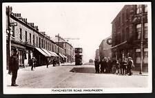 Haslingden near Rawtenstall. Manchester Road & Tram.