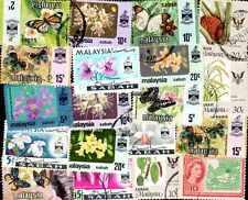 BORNEO & SABAH collections de 25 à 150 timbres différents