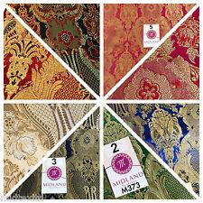 INDIAN banarsi ORO METALLIZZATO decorativi broccato floreale tessuto M373 mTEX
