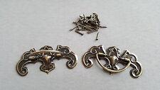 Brass Vintage Steel Drawer Knob Pull Handles Door Cupboard Knobs FREE NAIL SET