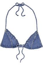 Agent Provocateur Denim Ferdinanda bikini top taglie small / 2 o Medio / 3 nuovo con etichetta