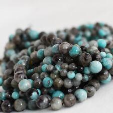 Grade Un Naturel Noir Ligne Amazonite Gemme Perles Rondes - 6 mm 8 mm 10 mm