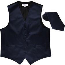 New Men's Formal Tuxedo Vest Waistcoat_Necktie navy blue wedding party prom