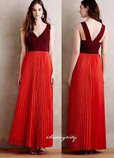 NWT Anthropologie Roja Maxi Dress by Moulinette Soeurs Feminin Stunning Gorgeous