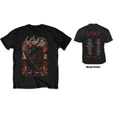 Slayer Unisex Tee: Hellthrone European Tour 2018 (Back Print/Ex Tour)