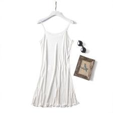 Silk Full Slips Strappy Underwear Adjustable Straps Under Skirt Nightie Chemise