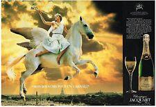 PUBLICITE   1983     JACQUART  champagne (2 pages)