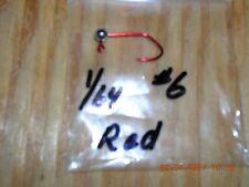 50 1/64oz Ball Head Jigs Red Chrome Matzuo Sickle Hooks #10 #8 or #6 You Choose