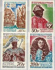 Dahomey 1970 422-25 271-74 ships King ALKEMY Luigi XIV 300th Ann DIP. missione