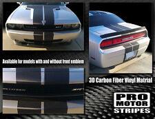 Dodge Challenger CARBON FIBER Rally Stripes 2015 2016 2017 Pro Motor