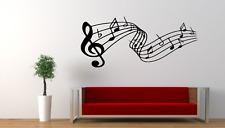 Music Notes Lines Song Modern Wall Art Sticker Decal Decor MU22
