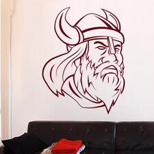 Sticker Tête de Viking avec Casque, XXL, Géant 40x31 cm à 70x54 cm (VIK001)