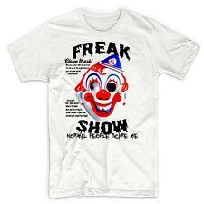 Creepy Clown T-Shirt Halloween Psycho Evil Scary Sinister Dark Goth Horror tee