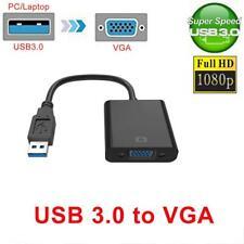 USB 3.0 2.0 a VGA 1080p multipantalla Adaptador del convertidor Duración AU