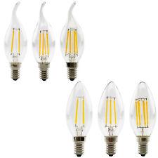 Retro LED E14 Edison Filament Leuchtmittel Kerzenbirne Glühbirne 2w 4w 6w 220V