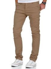 Herren Slim Fit Stretch Chino Hose Jeans Beige/Schwarz/Navy/Grau 7010-09