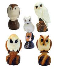Tagua Nut Owl Sculptures Handmade in Ecuador | Fair Trade | Decorative Figurines