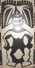 """12"""" Vinyl Tiki Ku (god of War and Strength) Car Decal Sticker Black #1"""