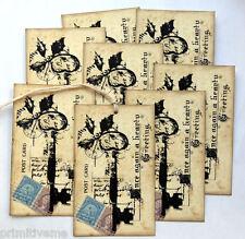 Hang Tags  CHRISTMAS KEY POSTCARD TAGS #T 12  Gift Tags