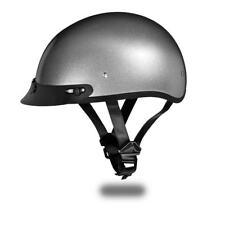 Brand New Daytona Helmets Skull Cap SILVER METALLIC DOT Motorcycle Helmet D1-SM