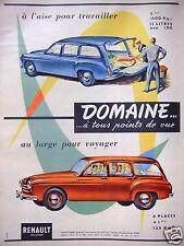 PUBLICITÉ RENAULT DOMAINE À L'AISE POUR TRAVAILLER AU LARGE POUR VOYAGER 6 PLACE