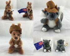 6x Australian Animals Stuffed Toys Koala Kangaroo 4.5' Mix Australian Souvenir