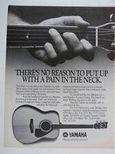 vintage magazine advert 1986 YAMAHA GUITARS