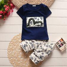 Baby Boys Clothes Casual T-Shirt tops + Shorts 2pcs Toddler Boys Clothes Sets