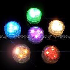6pcs Submersible Waterproof Triple LED Tea Lights Bright Party Vase Event Decor