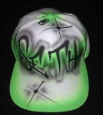 Urbanist Personalised Custom Air Brushed Graffiti Art Snap back Baseball Cap