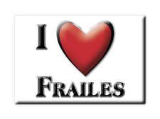 SOUVENIR ESPAÑA ANDALUCÍA JAÉN IMAN FRIDGE MAGNET CORAZON I LOVE  FRAILES (J)--