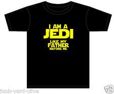 BOYS STAR WARS T-SHIRT I AM A JEDI LIKE MY FATHER JEDI MASTER TSHIRT 0-11 YEARS
