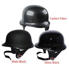DOT Motorcycle German Half Face Helmet For Harley Chopper Cruiser Biker M L XL
