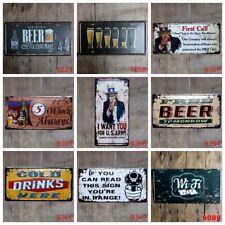 Beer Poster Vintage Metal Tin Signs Retro Car Plate Bar Pub Art Decor Wall