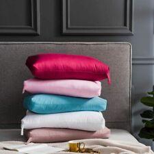 Goose Feather Bedding Pillow Anti-Apnea Solid Sleeping Neck Rest Cotton Cover