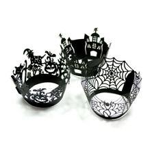 Halloween Cupcake-Dekoration 12/Pack für Muffins 4 Varianten Hexen,Grusel,Spinne