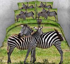 Intimate Zebra 3D Printing Duvet Quilt Doona Covers Pillow Case Bedding Sets