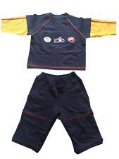Boys Navy Multi Speed Racer 65 Longsleeve Top & Elasticated Waist Trouser Set
