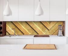 Aufkleber Küchenrückwand 3D Effekt Gold Metall Textur Folie Spritzschutz 22A184