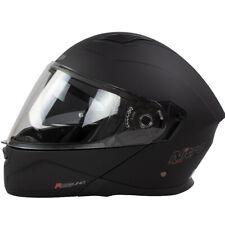 Nitro F350 Satin Noir avant Basculable Casque Motocycle Moto + Visière