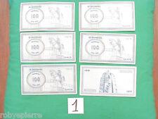 Ricambi banconote monopoli 60° anniversario 1936 1996 a