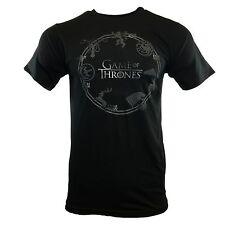 Men's T-shirt -GAME OF THRONES-Stark Targaryen Lannister Insignia - NEW SEASON